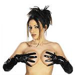 Lack Handschuhe